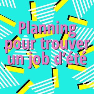 Un calendrier qui montre les étapes pour trouver un job d'été à Bruxelles